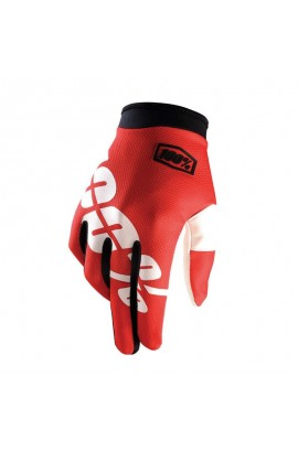 GUANTES 100% ITRACK ROJO